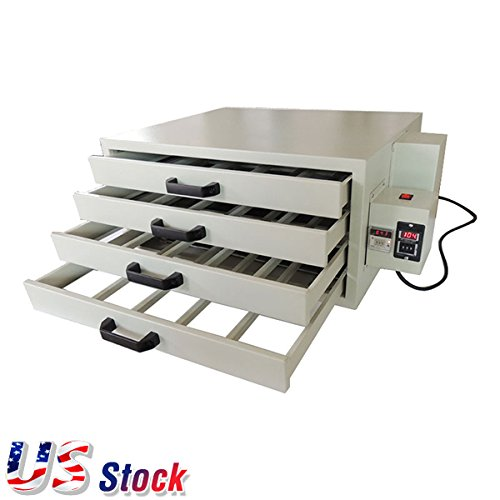 US Stock 110V 2000W 4 Layers Screen Printing Drying Cabinet Drying Area 25 x 21in Screen Press Warming Machine by Ving