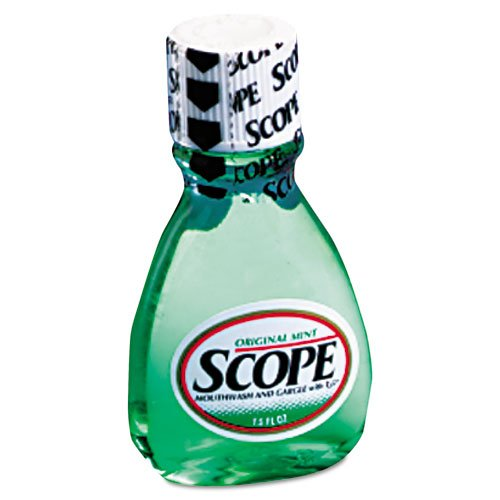 Scope Mouthwash, Mint, 1.5oz Bottle, 180/Carton
