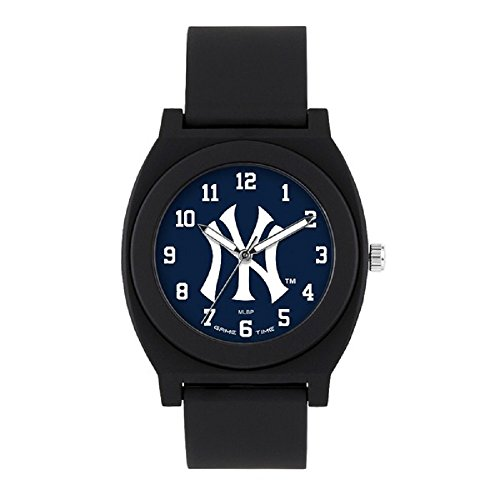 Gametime Watches MLB- New York Yankees Fan Black Series Watch, Black, 39.50mm