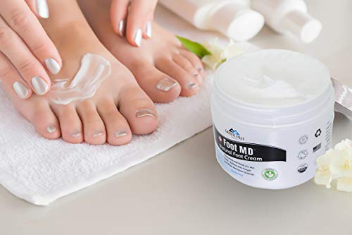 Natural Foot Cream  Cools Moisturizes and Heals Dry Skin  Reduces Redness Itching Inflammation