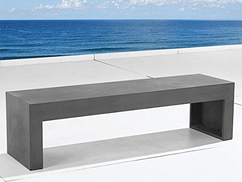 Beliani Taranto Modern Outdoor Furniture Concrete Bench