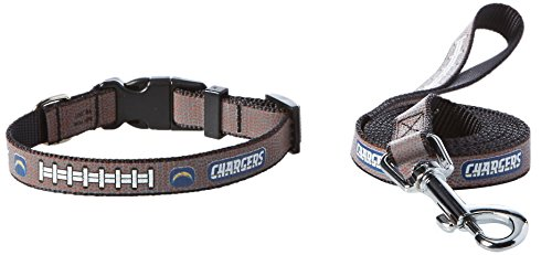 GameWear NFL San Diego Chargers Reflective Toy Football Collar & Small Leash Gift Pack, One Size, Brown (Dog Collar San Chargers Diego)