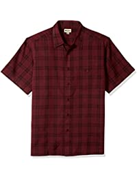 Men's Short Sleeve Microfiber Woven Shirt