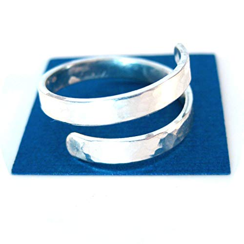 Hammered Sterling Silver Adjustable Ring ()