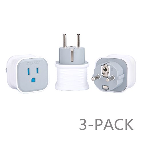 Universal Plug Adapter Set, BESTEK Grounded Travel Plug Kit