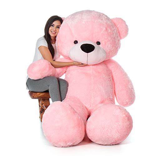 7 Ft Teddy Bear (Giant Teddy 7 Foot Life Size Bear Cuddles - The Biggest Teddy Bear! (Cotton Candy)