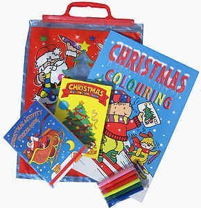 KIDS 4 PIECE CHRISTMAS ACTIVITY PACK - STICKERS AND COLOURING ...