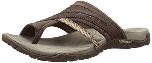 Merrell Women's Terran Post II Sandal, Dark Earth, 7 M US