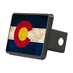 CafePress - Vintage Flag Of Colorado - Trailer Hitch Cover, Truck Receiver Hitch Plug Insert