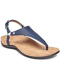 Vionic Women's Rest Kirra Backstrap Sandal - Ladies Sandals with Concealed Orthotic Arch Support Navy 6 W US