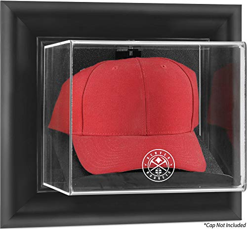 Sports Memorabilia Denver Nuggets Black Framed Wall-Mountable Cap Display Case - Basketball Displays