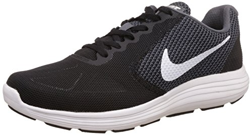Nike Revolution 3, Herren Laufschuhe, Grau (Dark Grey/White-Black), 43 EU (8.5 Herren UK)