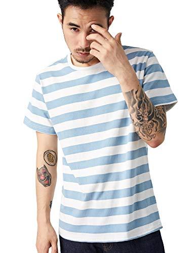 Zbrandy Striped T Shirt for Men Sailor Tee Red White Black Blue Stripes Top Summer Beach ()