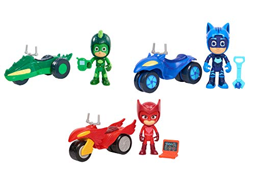 PJ Masks - Character, Vehicle Accessories Set (9 Piece Set) ()