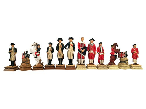 (WE Games American Revolutionary War Chess Pieces - 3.5 inch king)