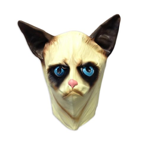 Creepy Cat Mask - Funny Animal Masks - Off the Wall Toys (Lady Costume Mask)