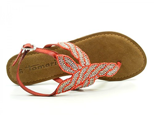 Tamaris 1-28146-26 Sandalias fashion de cuero mujer Rot