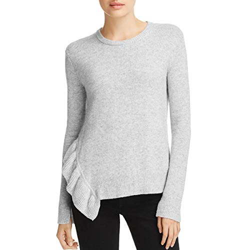 - Derek Lam 10 Crosby Womens Ruffled Wool Blend Pullover Sweater Gray S
