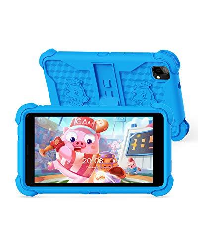 タブレット Jettom キッズタブレット 子供用タブレット 7インチ キッズモデル 目に優しい ROM32GB キッズ HDディスプレイ 子供向け ペアレンタルコントロール付き 保護ケース付き Android 10 QGo WIFI モデル プレゼント(青い)