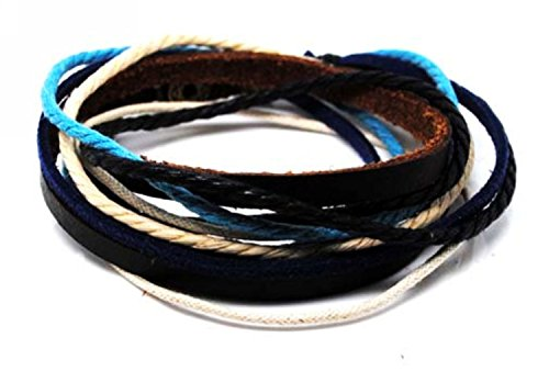 Original Tribe Adjustable Bracelet Cuff Made of Brown Leather Multicolour Ropes and Metal Woven Snapper Mens Bracelet Unisex Bracelet 606s