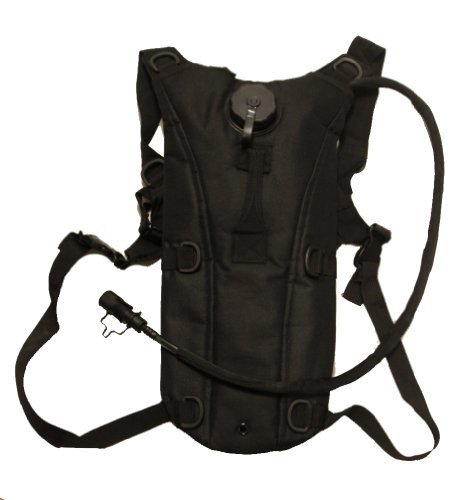 Ultimate Arms Gear Tactical Hydration Bladder Backpack + 2.5 Liter Water Bladder with Hosing, Stealth Black by Ultimate Arms Gear