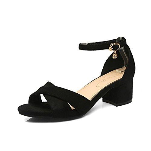 La Mujer Sandalias Versión en la Sandalia Elegante Código Mujer Black Sandalias Lazo el Verano Pulsera Coreana para con con Toe de terraza de wgYYXrqx
