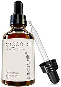 Poppy Austin Pure Argan Oil for Hair & Skin - Vegan, Cruelty-Free & Organic Finest Grade, 2 oz