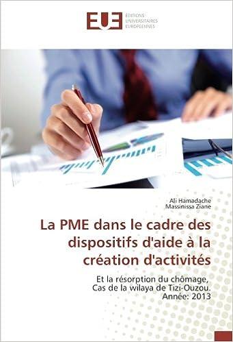 Lire un La PME dans le cadre des dispositifs d'aide à la création d'activités: Et la résorption du chômage, Cas de la wilaya de Tizi-Ouzou. Année: 2013 pdf