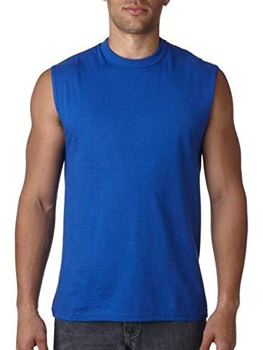 Men's sleeveless HiDensi-T t-shirt. (Royal) (Small)