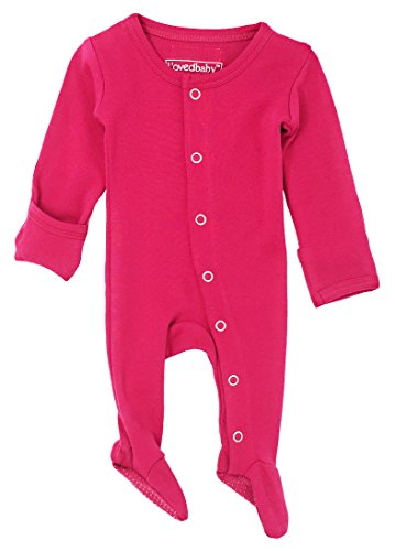 lovedbaby-unisex-baby-organic-cotton-footed-overall-3-6-months-magenta