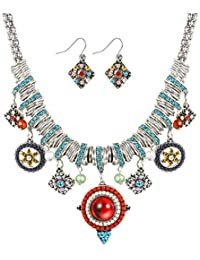 Bohemian Jewelry for Women Ethnic Necklace and Retro...