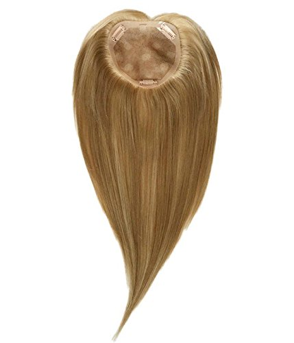 Uniwigs® Remy Human Hair Mono Hairpiece, Closure, Top Hair Piece Y-500M#, Straight