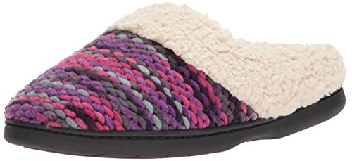 Dearfoams Womens Textured Sweater Knit Clog Purple dODvHA