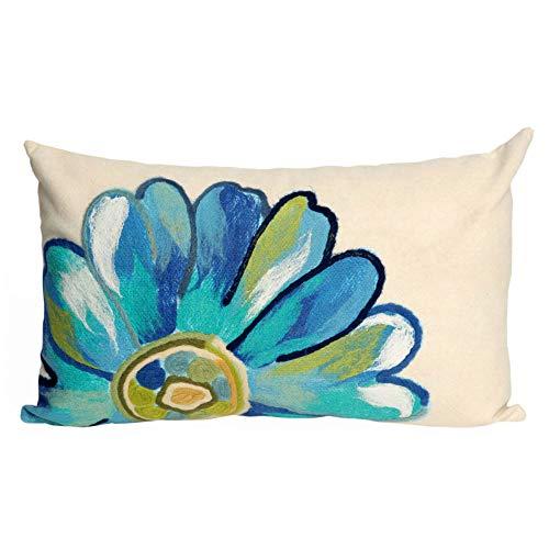 - Liora Manne 7SC1S314904 Visions III Garden Flower Power Pillow Daisy Indoor/Outdoor Lumbar Pillow 12