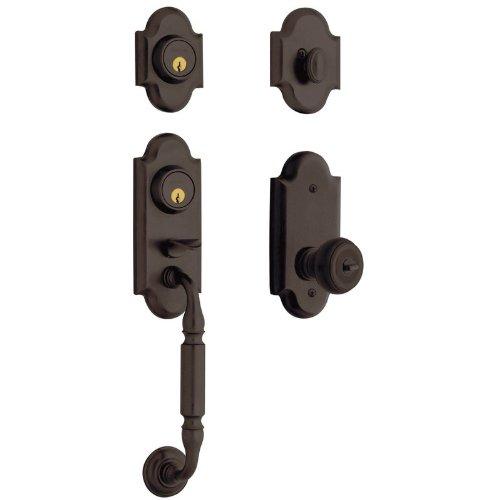 - Baldwin 85365.2FD Ashton Dummy Set Solid Brass Sectional Handleset with Colonial, Venetian Bronze
