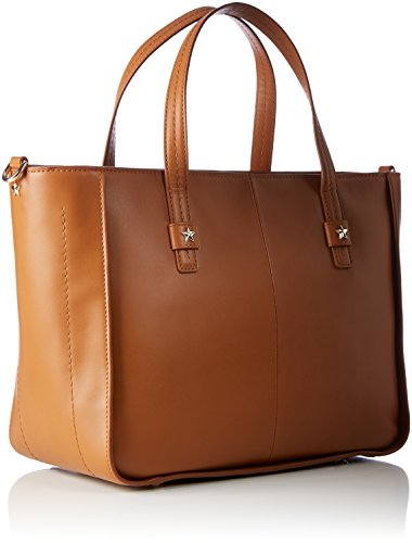 Tommy Hilfiger City Leather Tote Corp - Borse a spalla Donna, Braun (Cognac), 16x30x36 cm (B x H T)