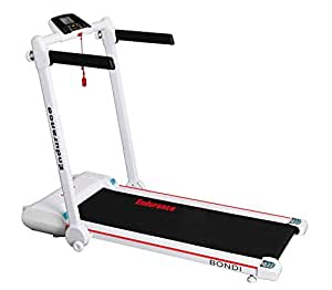 Endurance Bondi Treadmill - Folds Flat Under Bed or Upright in Cupboard. Free Delivery- Compact Foldable Running Machine Great for Exercise Fitness in Your Home Gym
