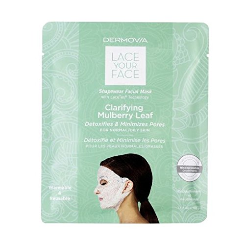 Lace Face Mask (LACE YOUR FACE Compression Facial Mask - Clarifying Mulberry Leaf - Single)