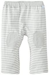 i play. Baby Organic Yoga Pants, Gray Stripe, 3 Months