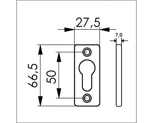 66,5x27,5x7mm Alu Zylinder-Rosette 408 BAUER