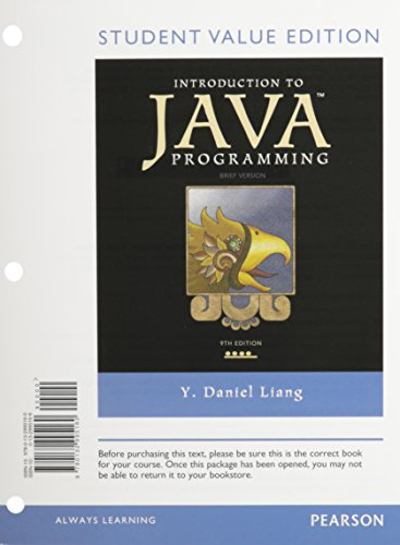 Introduction to Java Programming, Brief Version, Student Value Edition plus MyProgrammingLab with Pearson eText -- Acces