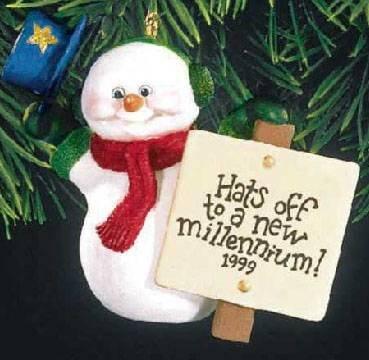 QX8059 Millennium Snowman 1999 Hallmark (1999 Snowman)