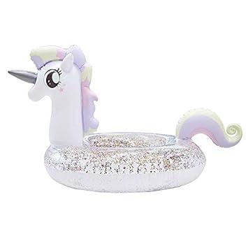 Amazon.com: Flotador inflable de unicornio gigante para ...