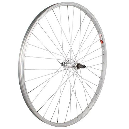 Sta Tru Silver Alloy ATB 6-7 Speed Freewheel Hub Quick Release Rear Wheel (26X1.5-Inch)