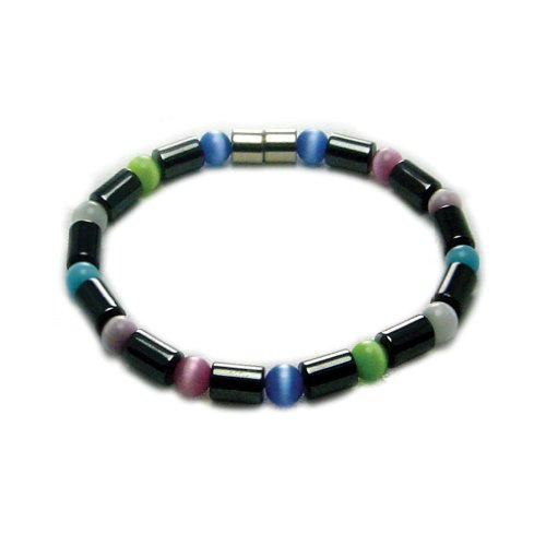 Accents Kingdom Women's Magnetic Hematite Color Cats Eye ...