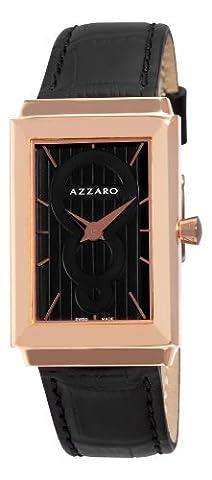 Azzaro Men's AZ2061.52BB.000 Legand Rectangular Rose PVD Black Dial Watch (Azzaro Men Quartz)