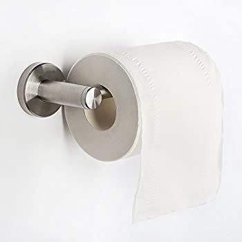 homeideas toilet paper roll holder storage sus304 stainless steel bathroom paper towel dispenser tissue hanger contemporary style wall mountbrushed finish