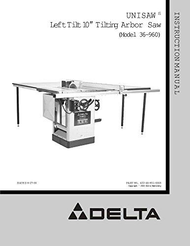 Tilt Unisaw (Delta 36-960 Unisaw Left Tilt 10