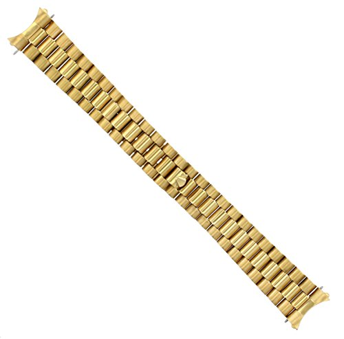 20MM President Watch Band for Mens Rolex DATEJUST 2 PC END Gold GP#2