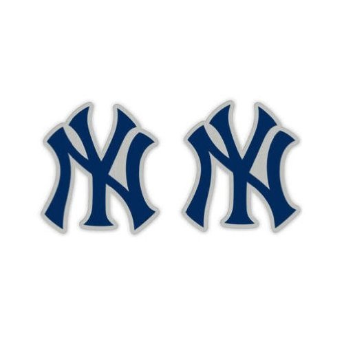 WinCraft MLB New York Yankees 45758011 Earrings Jewelry Card ()